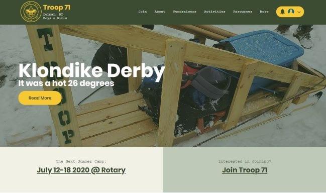 Delmar Troop 71 - Ortana Tech Web Design Client